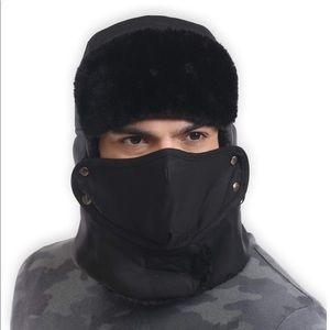 Sale 💥🆕 Black faux fur hat with mask